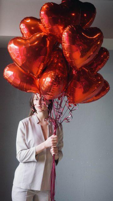 красные шары сердца